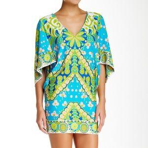 {Trina Turk} Woodblock Tunic Mini Dress